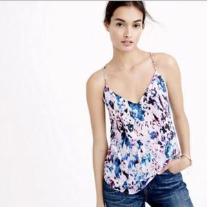J Crew Silk Watercolor Cami Top